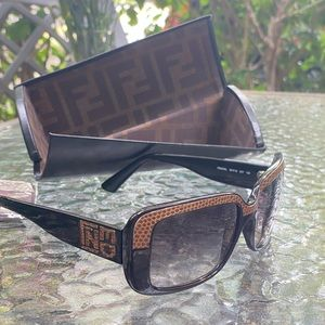 Fendi Black & Tan Logo Sunglasses